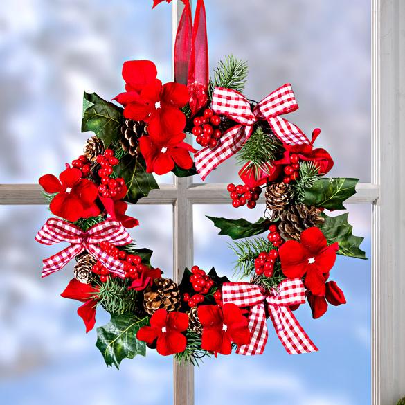 Weihnachtskranz mit Orchideen