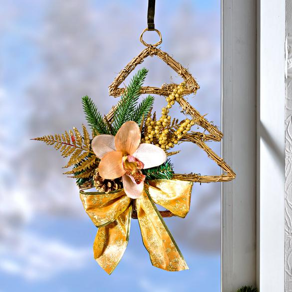 Weihnachtshänger mit Orchidee