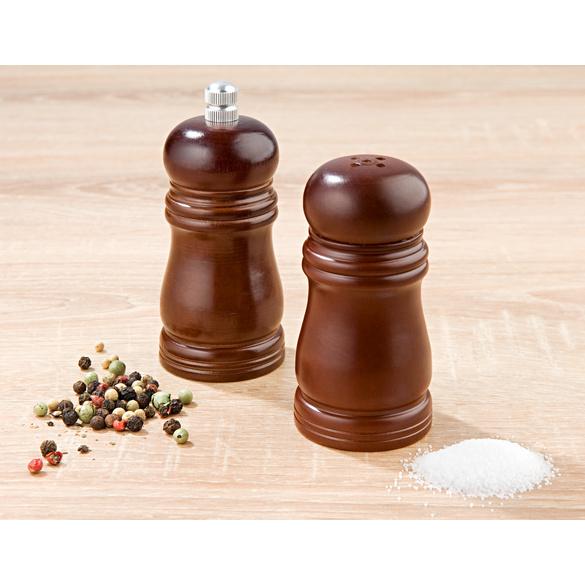 Salz- und Pfefferstreuer aus Holz, 2er-Set