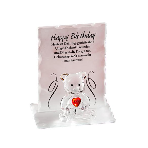 """Kristall-Bär """"Happy Birthday"""""""