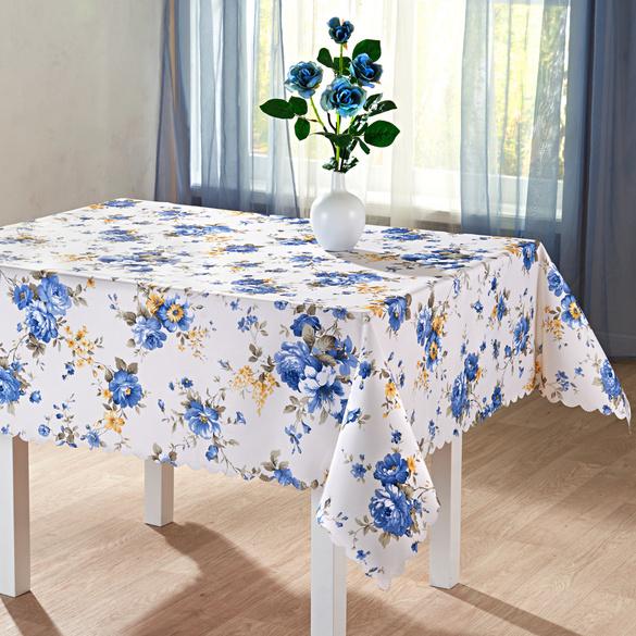 "Tischdecke ""Blaue Blüten"", 140 x 180 cm"