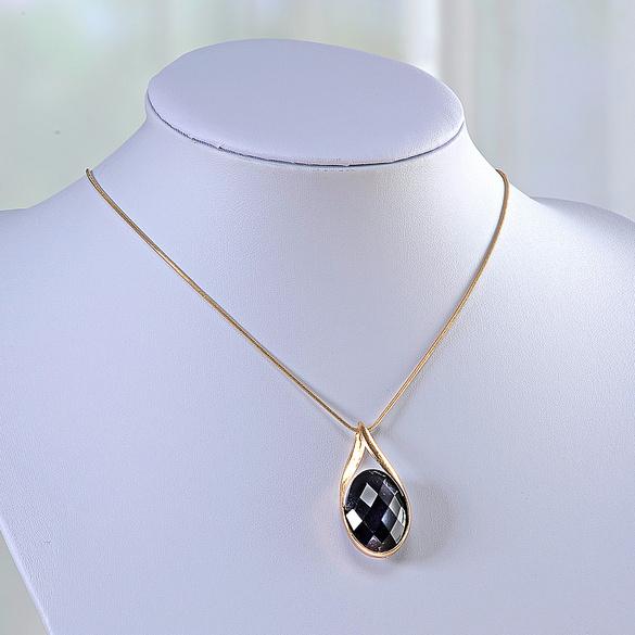 Wende-Halskette schwarz/weiß