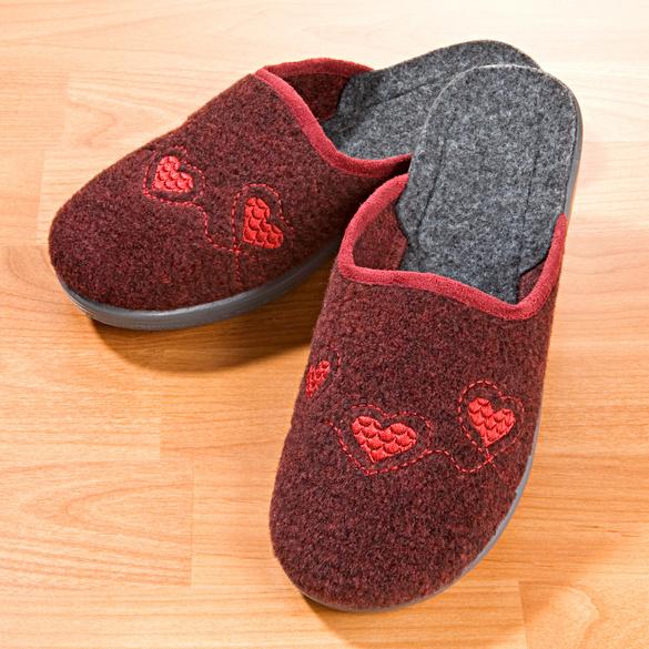 "Damen-Pantoffel ""Samira"" bordeaux"