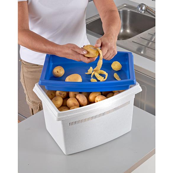 Kartoffelbox blau