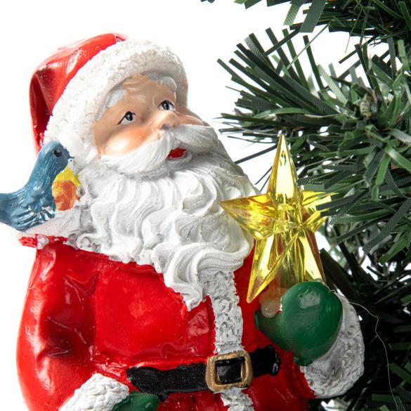 Solar-Tanne mit Weihnachtsmann