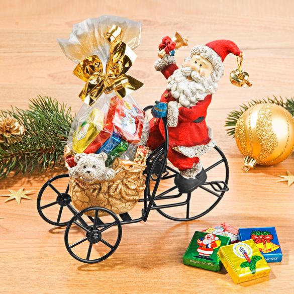 Weihnachtsmann auf Dreirad