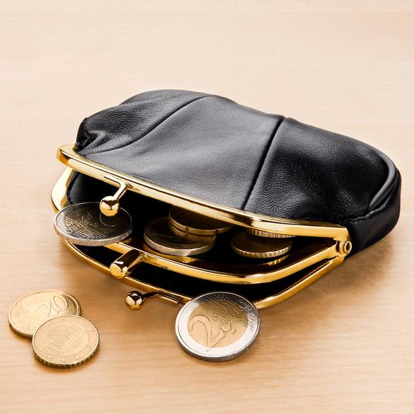 Leder-Geldbörse