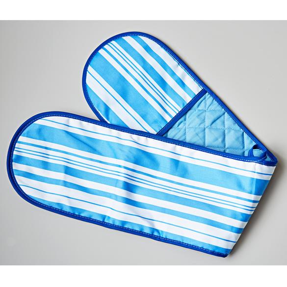 Ofenhandschuh 2-in-1 blau