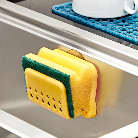 Schwammhalter + Spülschwamm gelb