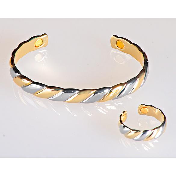 Magnet-Armband gold/silber