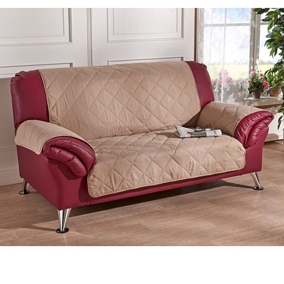 Sofaüberwurf 2-Sitzer beige