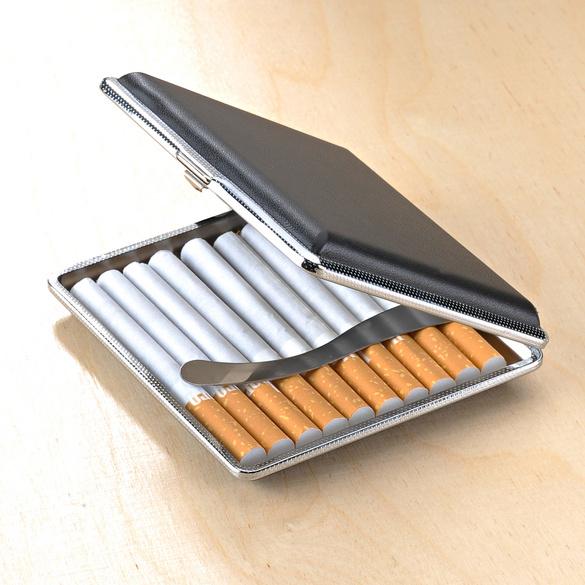 Zigarettenetui schwarz