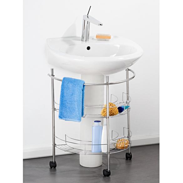 Waschbecken-Unterregal