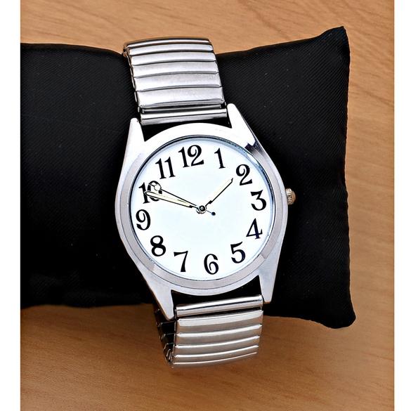 Armbanduhr silberfarben, Ø 3,5 cm
