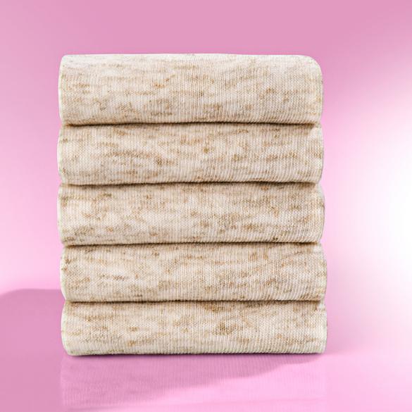 Baumwollsocken mit Leinen, 5 Paar