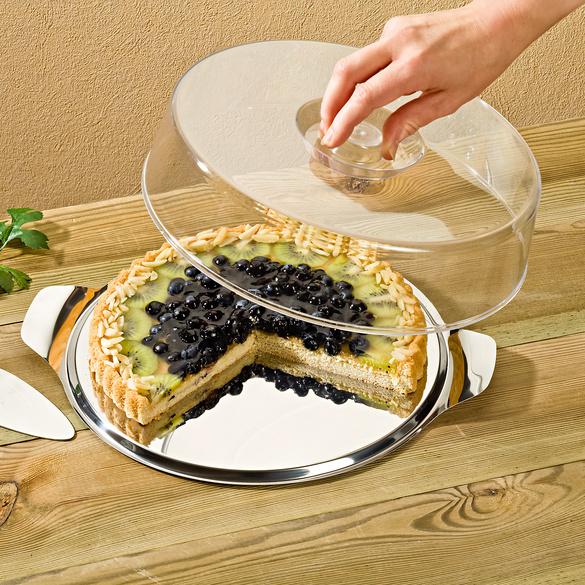 Tortenplatte mit Haube