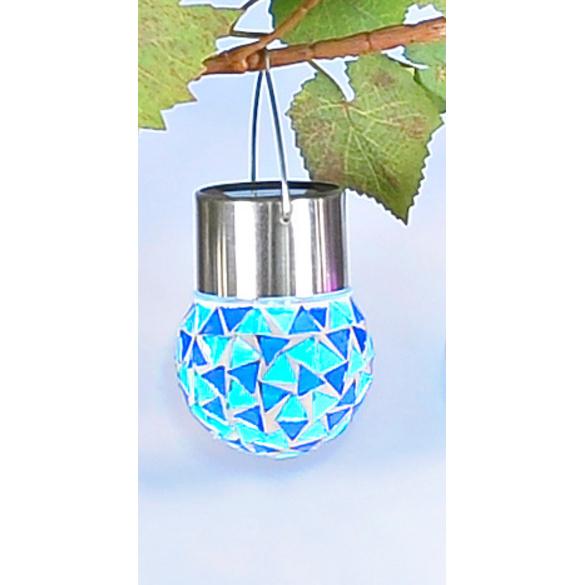 """Solar-Hängeleuchte """"Mosaik"""", blau"""