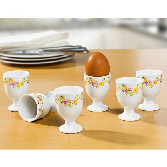 """Eierbecher """"Blütenranken"""", 6er-Set"""