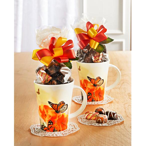 "Kaffeetasse ""Schmetterling"" mit Konfekt, 2er-Set"