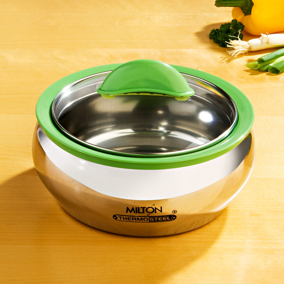 Thermoschüssel Edelstahl grün 600 ml