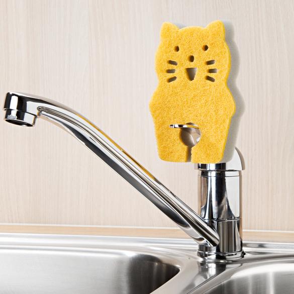 """Spülschwämme """"Katze"""", 3er-Set"""