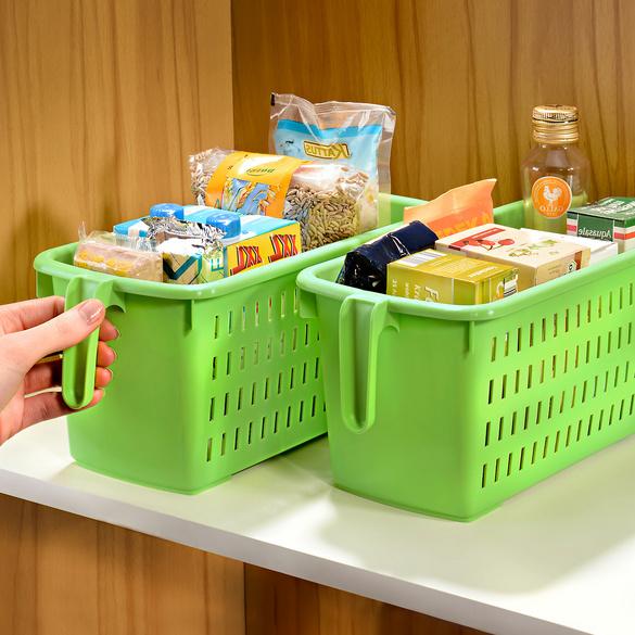 Aufbewahrungsbox mit Griff grün