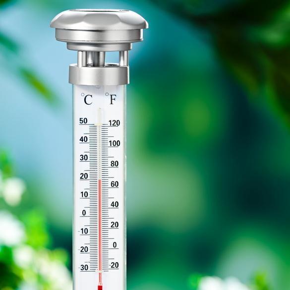 Solar-Gartenthermometer