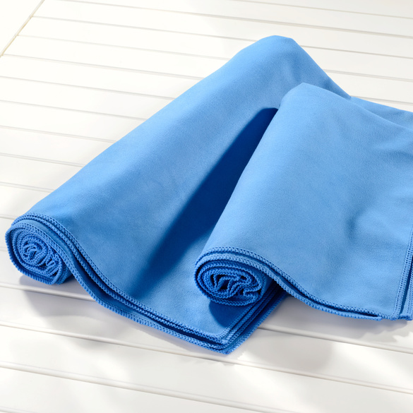 Mikrofaser-Handtuch blau, 50 x 100 cm