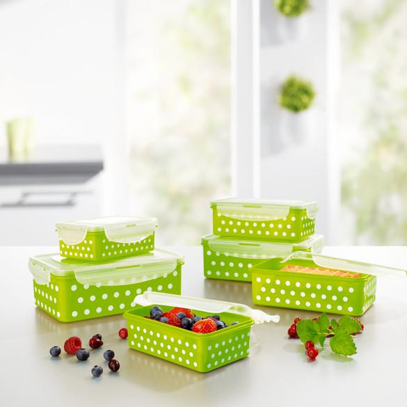 Frischhaltedosen grün-weiß, 12-tlg.