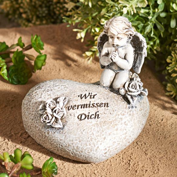 Gedenkstein mit Engel