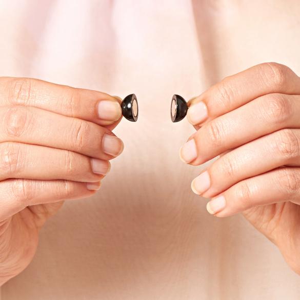 """Magnetverschlüsse """"Perlen"""" schwarz, 2er-Set"""