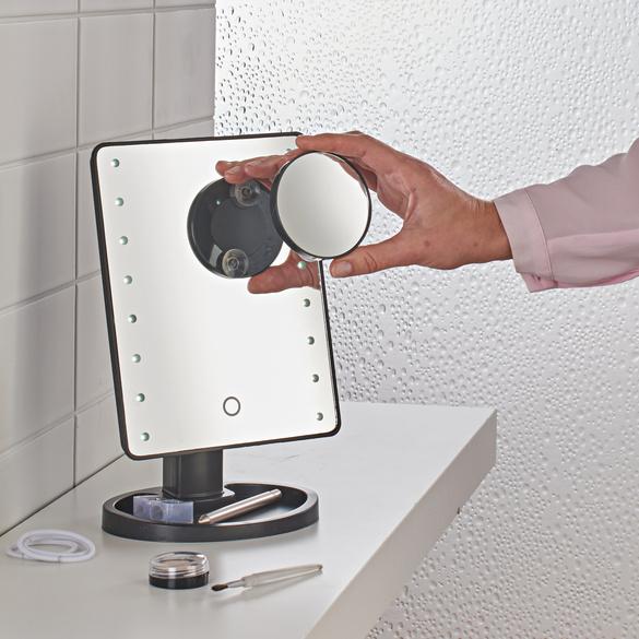 LED-Kosmetikspiegel mit Lupe