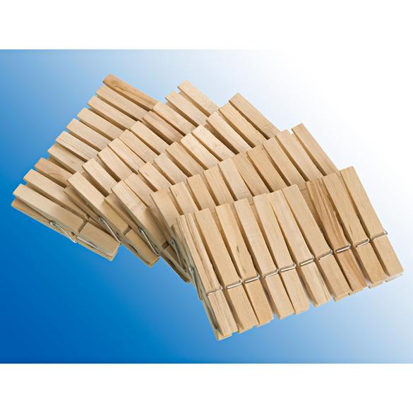 Holz-Wäscheklammern, 50er-Set