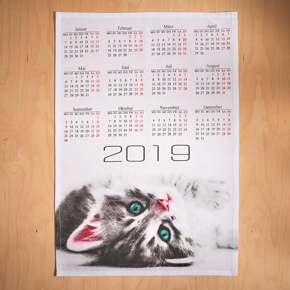 """Geschirrtücher """"Katzenkalender"""", 2er-Set"""