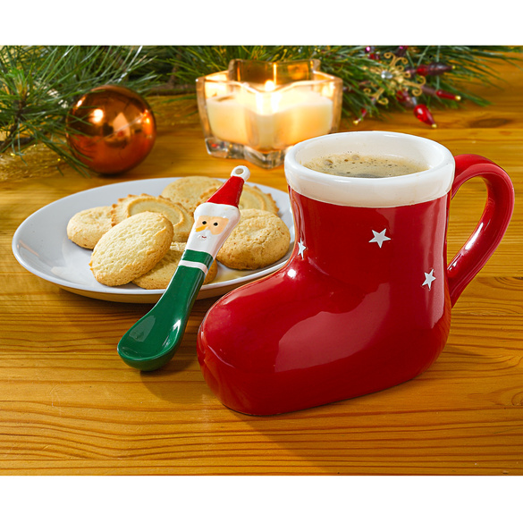 Weihnachtstasse mit Löffel