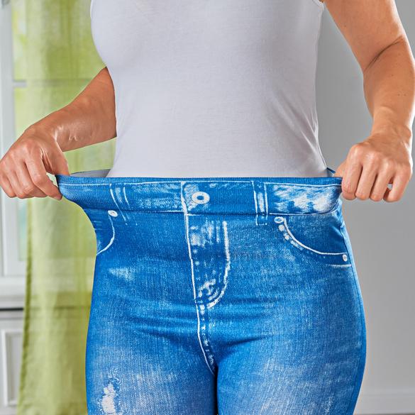Slim-Jeggings jeans-blau used