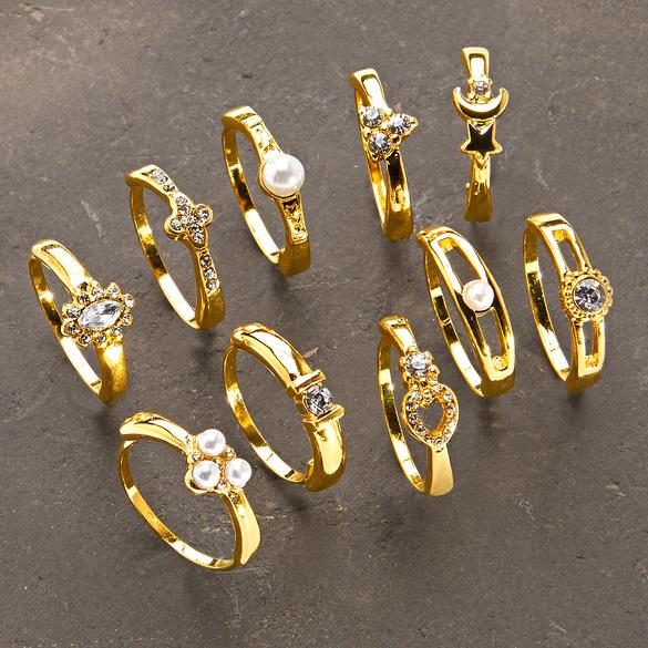Ring-Set, 10-tlg.
