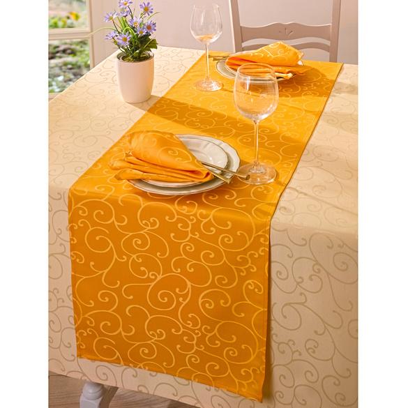 Jacquard-Tischläufer mango