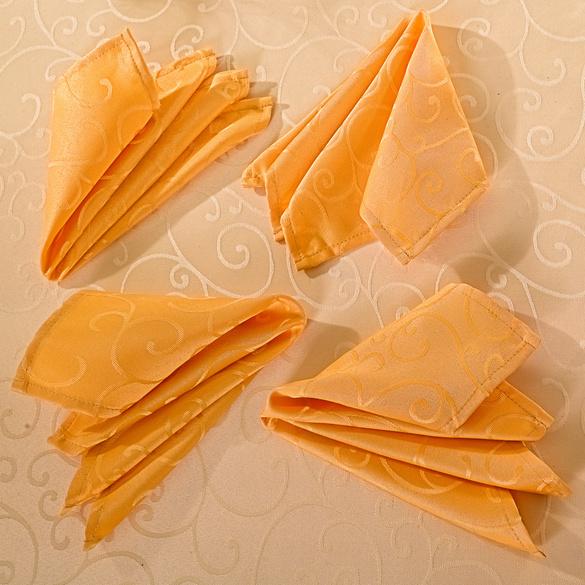 2 Jacquard-Servietten mango + 2 Jacquard-Servietten mango