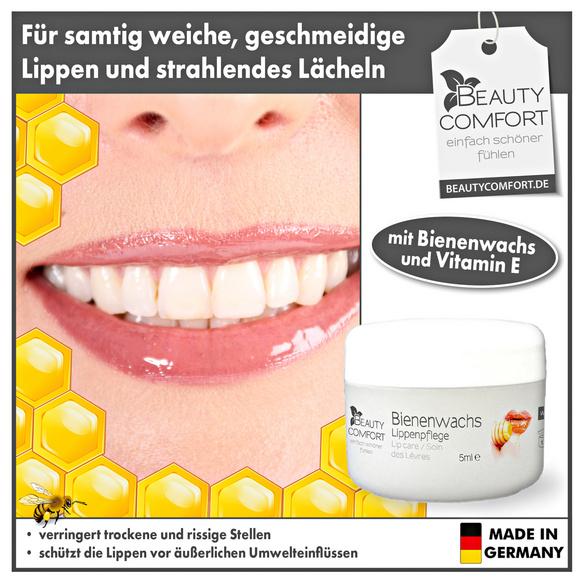 Bienenwachs-Lippenpflege