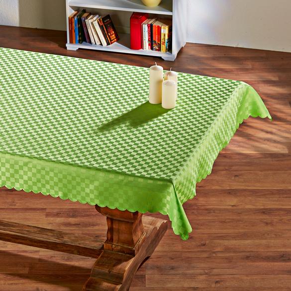 """Tischdecke """"Karo"""" grün 130 x 220 cm"""