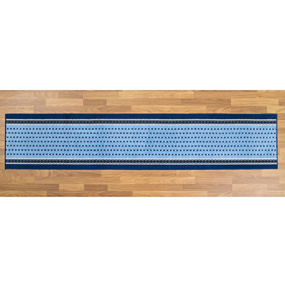 Küchenteppich blau-weiß