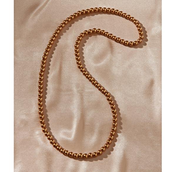 Perlenkette goldfarben, Ø 8 mm