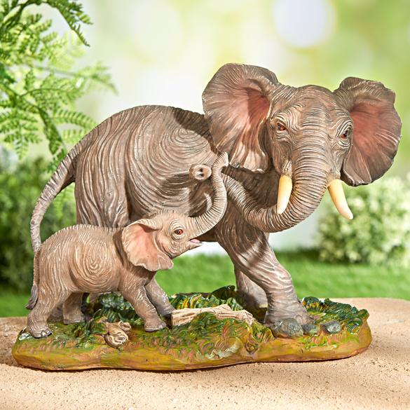 """Dekofigur """"Elefantenkuh mit Kind"""""""