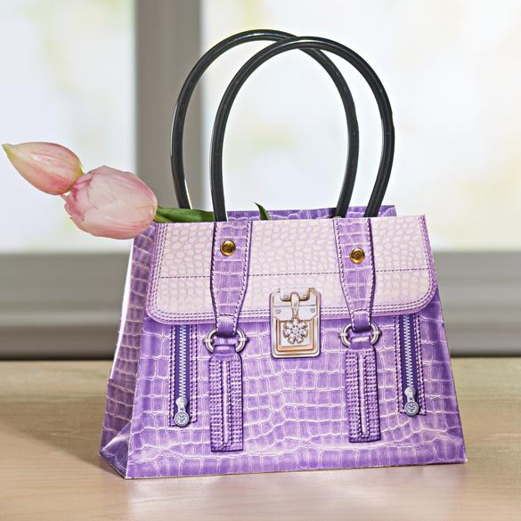 Geschenktasche lila, klein
