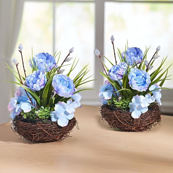 Blütengesteck blau