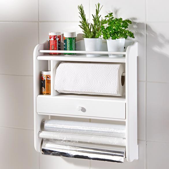 Küchenrollenhalter weiß