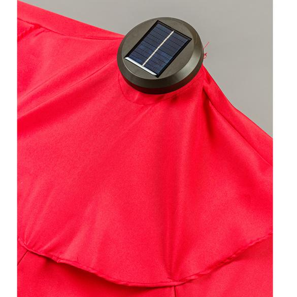 Solar-Sonnenschirm halbrund, rot