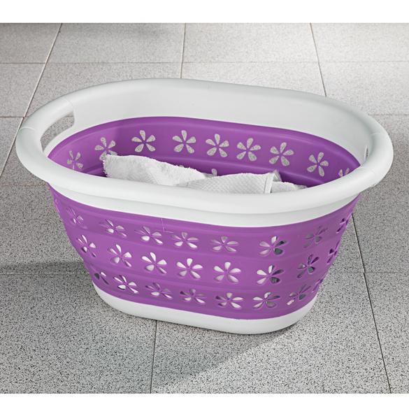 Wäschekorb faltbar violett