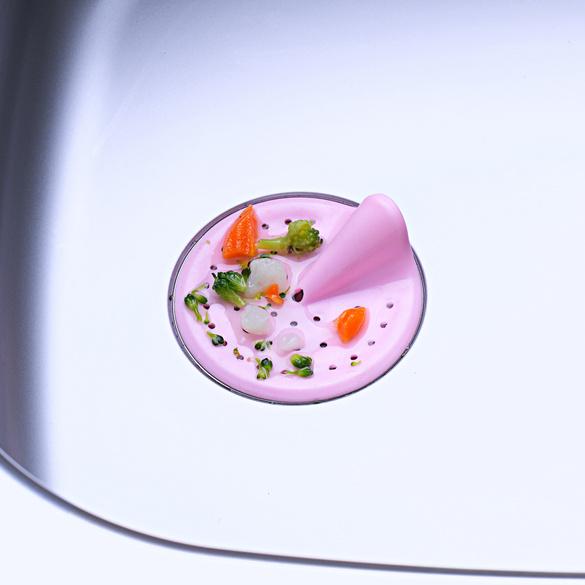 Abfluss-Schmutzfänger rosé